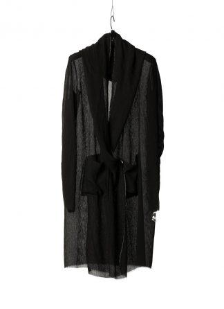 M.AMAcross Maurizio Amadei CW327L VCRE women 2 pocket hooded cardigan damen frauen jacke mantel viscose black hide m 2