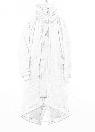 BORIS BIDJAN SABERI BBS Men PARKA FISHTAIL 1 Primaloft FKU10001 Herren Mantel Coat Jacket Jacke cotton pu punk grey acid dyed hide m 1
