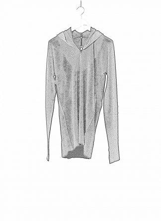 LABEL UNDER CONSTRUCTION LUC 30YXSW153 WS35 RG 38 9 Men Arched Long Hoodie Sweater Herren Pulli Pullover Sweatshirt cashmere silk black hide m 1