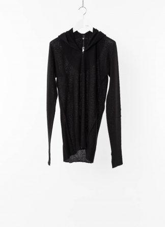 LABEL UNDER CONSTRUCTION LUC 30YXSW153 WS35 RG 38 9 Men Arched Long Hoodie Sweater Herren Pulli Pullover Sweatshirt cashmere silk black hide m 2