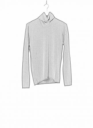 LABEL UNDER CONSTRUCTION LUC 34YMSW224 WS16 RG 38 DG Men Punched Cylindric High Neck Sweater Herren Pulli Pullover Sweatshirt cashmere dark grey hide m 1