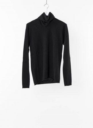LABEL UNDER CONSTRUCTION LUC 34YMSW224 WS16 RG 38 DG Men Punched Cylindric High Neck Sweater Herren Pulli Pullover Sweatshirt cashmere dark grey hide m 2