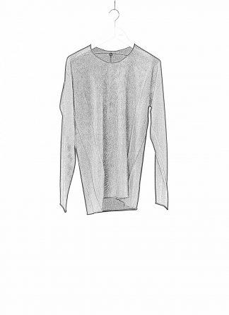 LABEL UNDER CONSTRUCTION LUC Men 38YXSW152 WS23 RG 389 Arched Sweater Lightweight Herren Pulli Sweatshirt Pullover cashmere silk black hide m 1