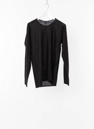 LABEL UNDER CONSTRUCTION LUC Men 38YXSW152 WS23 RG 389 Arched Sweater Lightweight Herren Pulli Sweatshirt Pullover cashmere silk black hide m 22