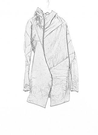 LEON EMANUEL BLANCK LEB Men Curved Hooded Down Coat DIS M CHC 01 Herren Jacke Mantel Daunenjacke waxed cotton black hide m 1