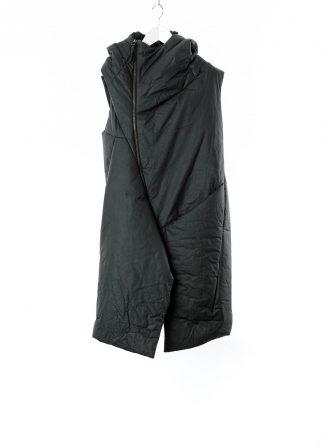 LEON EMANUEL BLANCK LEB Men Curved Hooded Down Vest DIS M CHV 01 Herren Jacke Mantel Weste Daunenjacke waxed cotton black hide m 2
