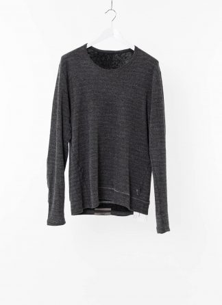 TAICHI MURAKAMI Men T shirt U LS Sweater Herren Pulli Sweatshirt Pullover DNA Paper Mongolian Cashmere Wface grey black hide m 2